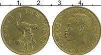 Изображение Монеты Танзания 20 сенти 1966 Латунь XF