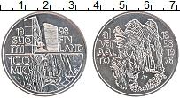 Изображение Монеты Финляндия 100 марок 1998 Серебро UNC- 100 лет со дня рожде