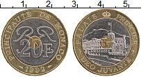 Изображение Монеты Монако 20 франков 1992 Биметалл UNC- Королевский дворец