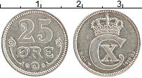 Изображение Монеты Дания 25 эре 1919 Серебро XF