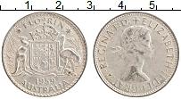 Изображение Монеты Австралия 1 флорин 1959 Серебро XF Елизавета II.