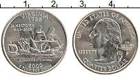 Изображение Мелочь США 1/4 доллара 2000 Медно-никель UNC- Р. Штат Вирджиния