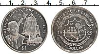 Изображение Монеты Либерия 1 доллар 1999 Медно-никель UNC Джеймс Кук