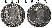 Изображение Монеты Фолклендские острова 1 крона 2006 Медно-никель UNC Елизавета II. Гораци