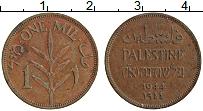 Изображение Монеты Палестина 1 мил 1944 Бронза XF