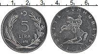 Изображение Монеты Турция 5 лир 1975 Медно-никель XF
