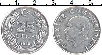 Изображение Монеты Турция 25 лир 1985 Алюминий XF Ататюрк