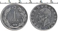 Изображение Монеты Турция 1 лира 1975 Бронза XF Кемаль Ататюрк