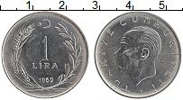 Изображение Монеты Турция 1 лира 1969 Бронза XF Кемаль Ататюрк