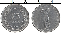Изображение Монеты Турция 25 куруш 1967 Бронза XF