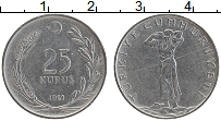 Изображение Монеты Турция 25 куруш 1961 Бронза XF
