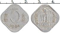 Изображение Монеты Индия 5 пайс 1984 Алюминий XF