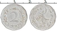 Изображение Монеты Пакистан 2 пайса 1969 Алюминий XF