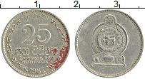 Изображение Монеты Шри-Ланка 25 центов 1982 Медно-никель XF