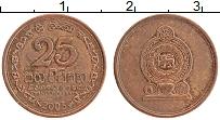 Изображение Монеты Шри-Ланка 25 центов 2005 Бронза XF