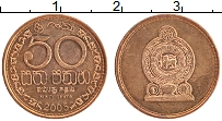 Изображение Монеты Шри-Ланка 50 центов 2005 Бронза XF
