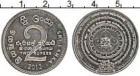 Изображение Монеты Шри-Ланка 2 рупии 2012 Медно-никель UNC-
