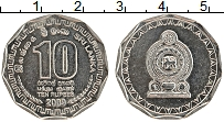 Изображение Монеты Шри-Ланка 10 рупий 2009 Медно-никель UNC-