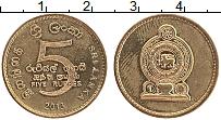 Изображение Монеты Шри-Ланка 5 рупий 2013 Латунь UNC-