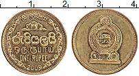 Изображение Монеты Шри-Ланка 1 рупия 2009 Латунь UNC-