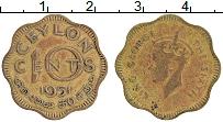 Изображение Монеты Цейлон 10 центов 1951 Латунь XF Георг VI