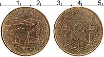 Изображение Монеты Непал 2 рупии 2009 Латунь XF