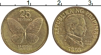 Изображение Монеты Филиппины 25 сентим 1993 Латунь XF