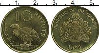 Изображение Монеты Гамбия 10 бутут 1998 Латунь UNC-
