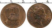 Изображение Монеты Фиджи 2 цента 1995 Бронза XF Елизавета II.