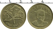 Изображение Монеты Свазиленд 2 эмалангени 2003 Латунь UNC-