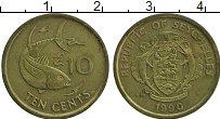 Изображение Монеты Сейшелы 10 центов 1990 Латунь XF