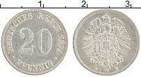 Изображение Монеты Германия 20 пфеннигов 1874 Серебро XF E