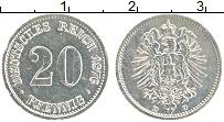 Изображение Монеты Германия 20 пфеннигов 1876 Серебро XF D