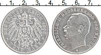 Продать Монеты Баден 5 марок 1908 Серебро
