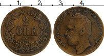 Изображение Монеты Швеция 2 эре 1864 Медь XF Карл XV