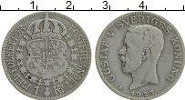 Изображение Монеты Швеция 1 крона 1923 Серебро XF Густав V