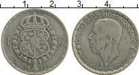 Изображение Монеты Швеция 1 крона 1943 Серебро XF+ Густав V