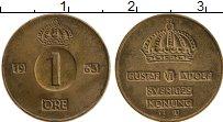 Изображение Монеты Швеция 1 эре 1963 Бронза XF