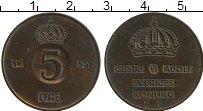 Изображение Монеты Швеция 5 эре 1954 Бронза XF Густав VI Адольф