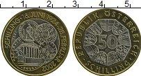 Изображение Монеты Австрия 50 шиллингов 2001 Биметалл UNC-