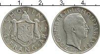 Изображение Монеты Албания 1 франгар 1937 Серебро XF Зог I