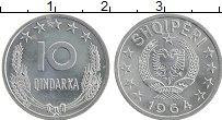 Изображение Монеты Албания 10 киндарка 1964 Алюминий UNC-