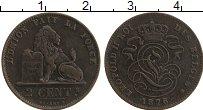 Изображение Монеты Бельгия 2 сантима 1876 Медь XF Леопольд II