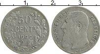 Изображение Монеты Бельгия 50 сантим 1909 Серебро XF Леопольд II