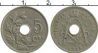 Изображение Монеты Бельгия 5 сантим 1914 Медно-никель XF Альберт I