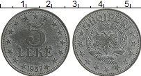 Изображение Монеты Албания 5 лек 1957 Цинк XF+