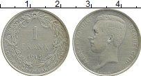 Изображение Монеты Бельгия 1 франк 1913 Серебро XF