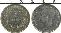 Изображение Монеты Бельгия 2 франка 1912 Серебро XF Альберт I
