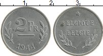 Изображение Монеты Бельгия 2 франка 1944 Цинк UNC-