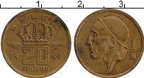 Изображение Монеты Бельгия 20 сантим 1954 Бронза XF Бодуэн